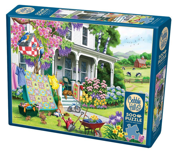 Cobble Hill 500 Piece Puzzle - Spring Cleaning | Wrapt