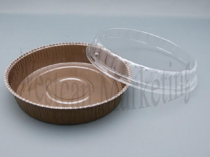 Pack of 10 Medium Round Clear Lids