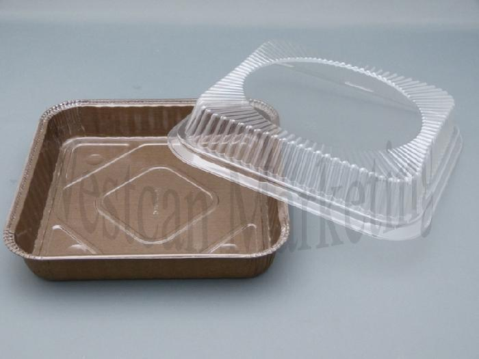 Pack of 10 Med Square Clear Lids