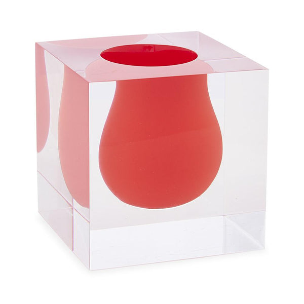 Jonathan Adler Mini Scoop Vase - Red | Wrapt