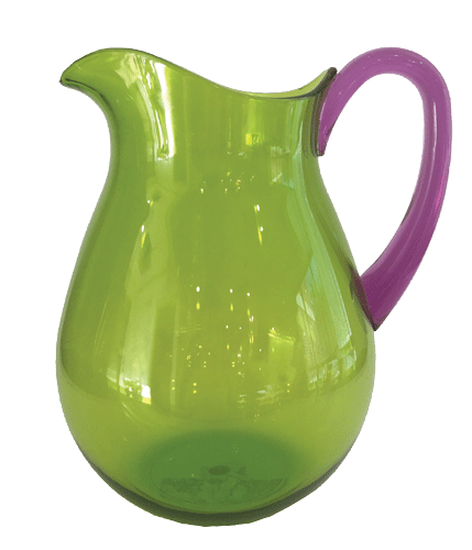 Caspari Acrylic Jug - Green/Amethyst | Kitchen Art