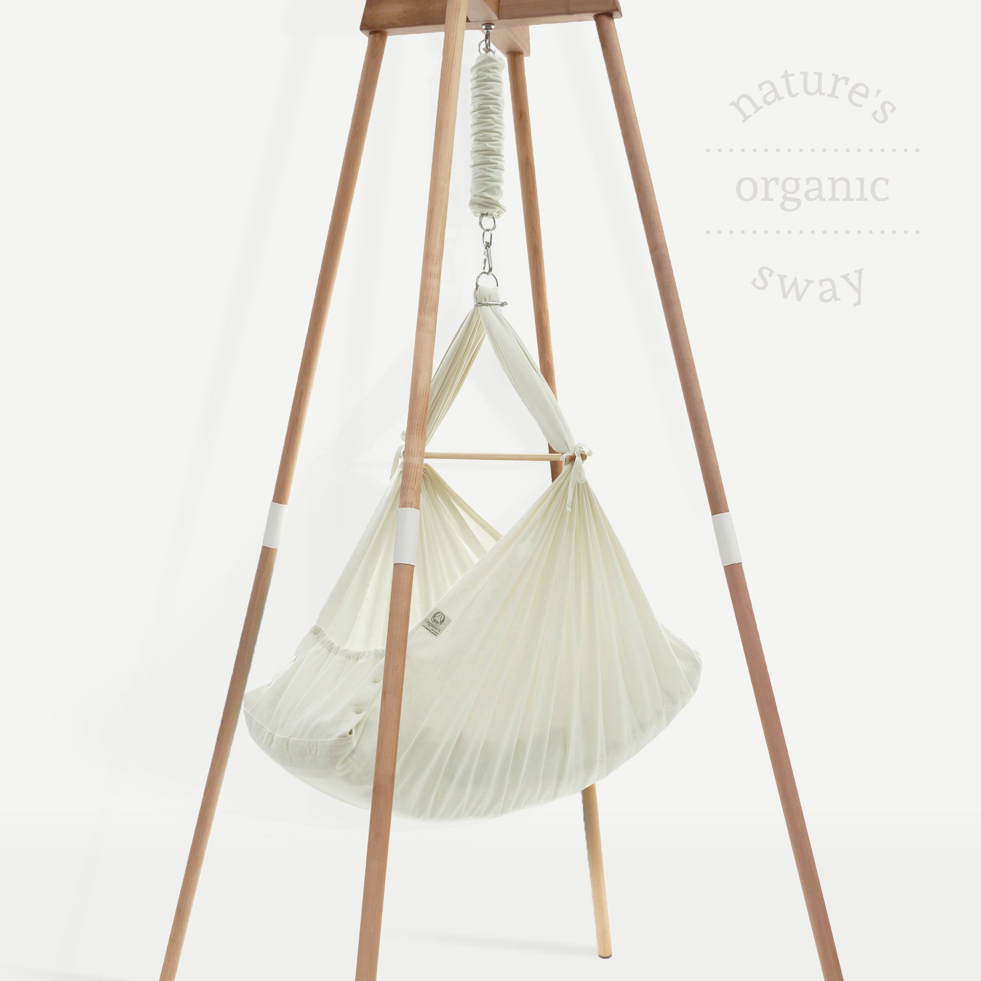 PRE ORDER Organic Baby Hammock with Beechwood Stand