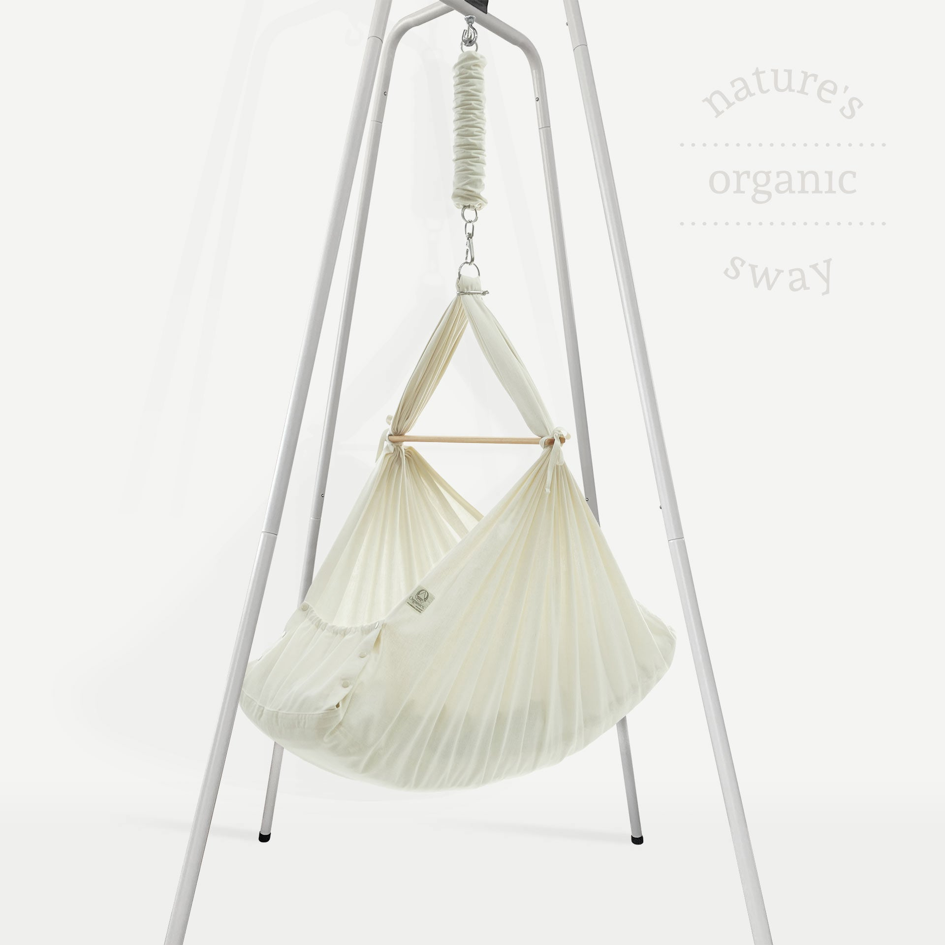Organic Baby Hammock with Steel Stand