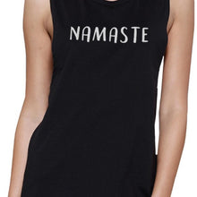 Load image into Gallery viewer, Namaste Muscle Tee Work Out Tank Top Cute Women's Yoga T-Shirt