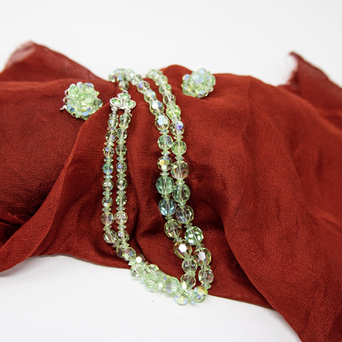Green Aurora Costume Jewellery Set
