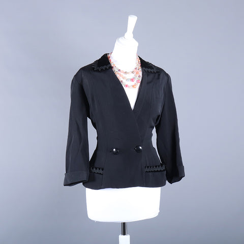 black vintage jacket from 1940