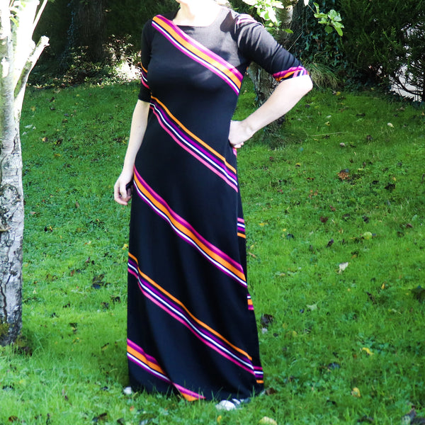 Vintage 1970s Striped Dress