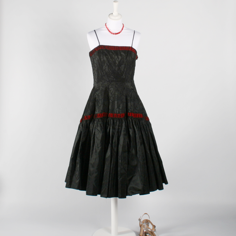1950's Black and Red Dress