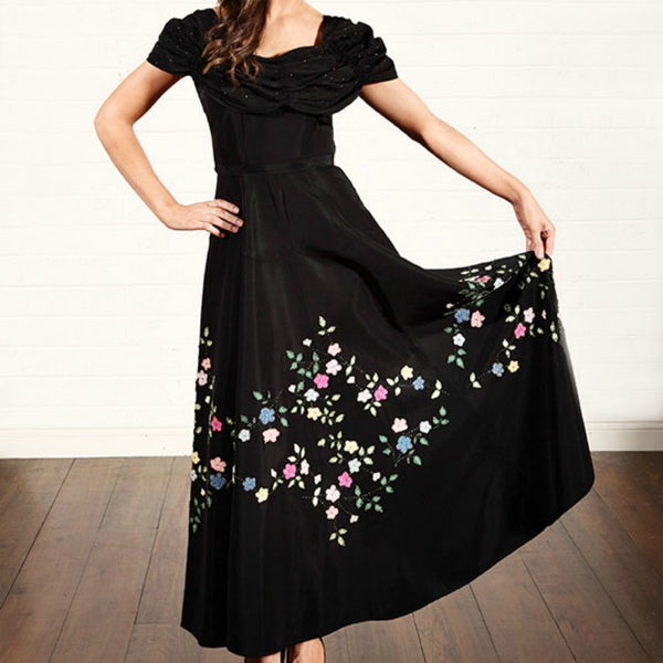 1950s /1960s Black Evening Dress