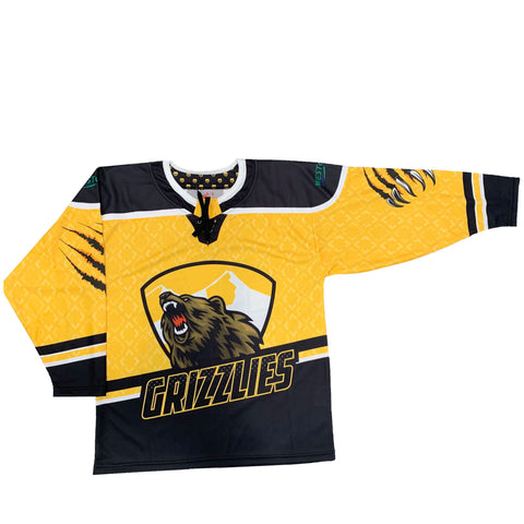 Barron/Chetek Grizzlies Sublimated Replica Jersey Black