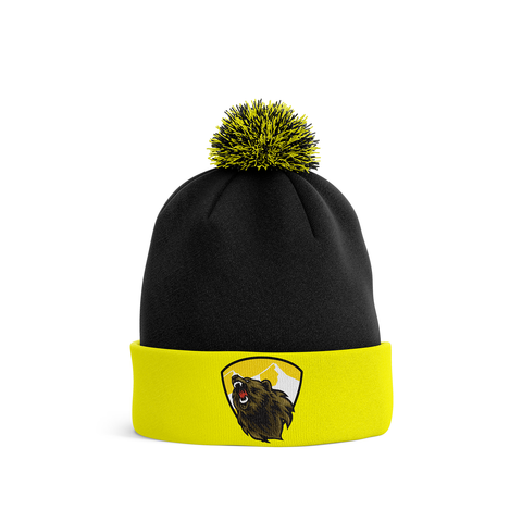 Barron/Chetek Grizzlies Pom Knit Hat