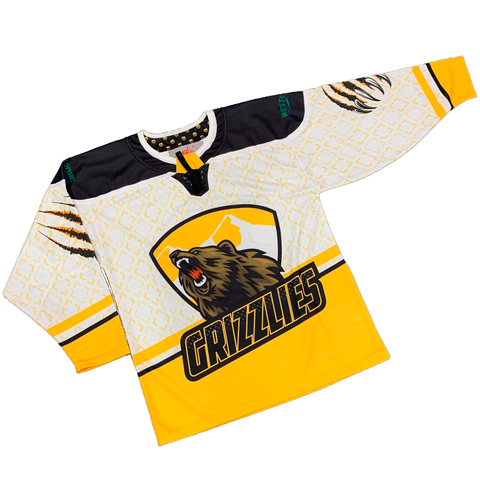 Barron/Chetek Grizzlies Sublimated Replica Jersey White