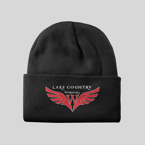 Black Knit LC Warhawks hat