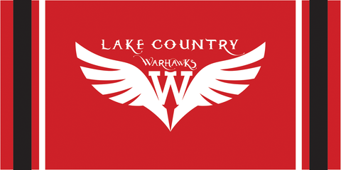 LC Warhawks Red Bath Towel