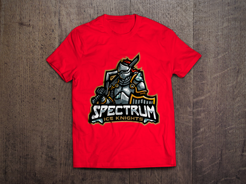 Spectrum Ice Knights Red Logo Tee