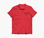 Red Embroidered Polo