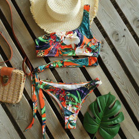 Trendy Leaves & Flowers Bikini