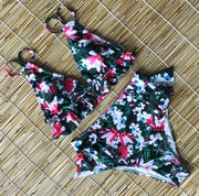 Ruffle Floral Swimsuit