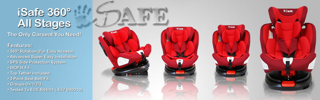 Rotating Carseat iSafe 360° Form Birth Group 0+ 1 2 3