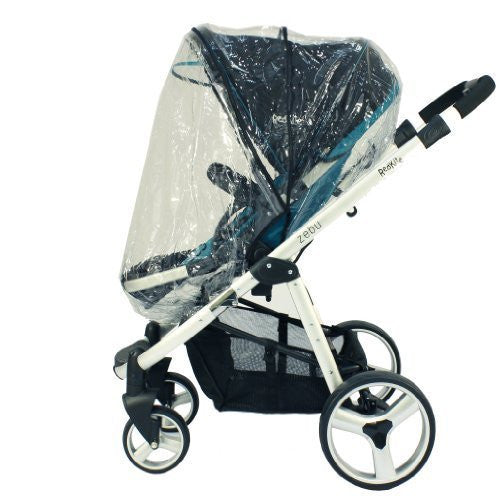 Rain Cover For Petite Star Kurvi Stroller & Carrycot Raincover All In One Zipped - Baby Travel UK  - 1