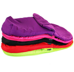 Luxury Fleece Lined Footmuff Lime Green Pouches For Petite Star Zia - Baby Travel UK  - 2
