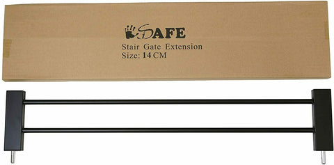 14cm Extension For iSafe DeLuxe Wooden Stair Gate Auto Close 90° Stop Open