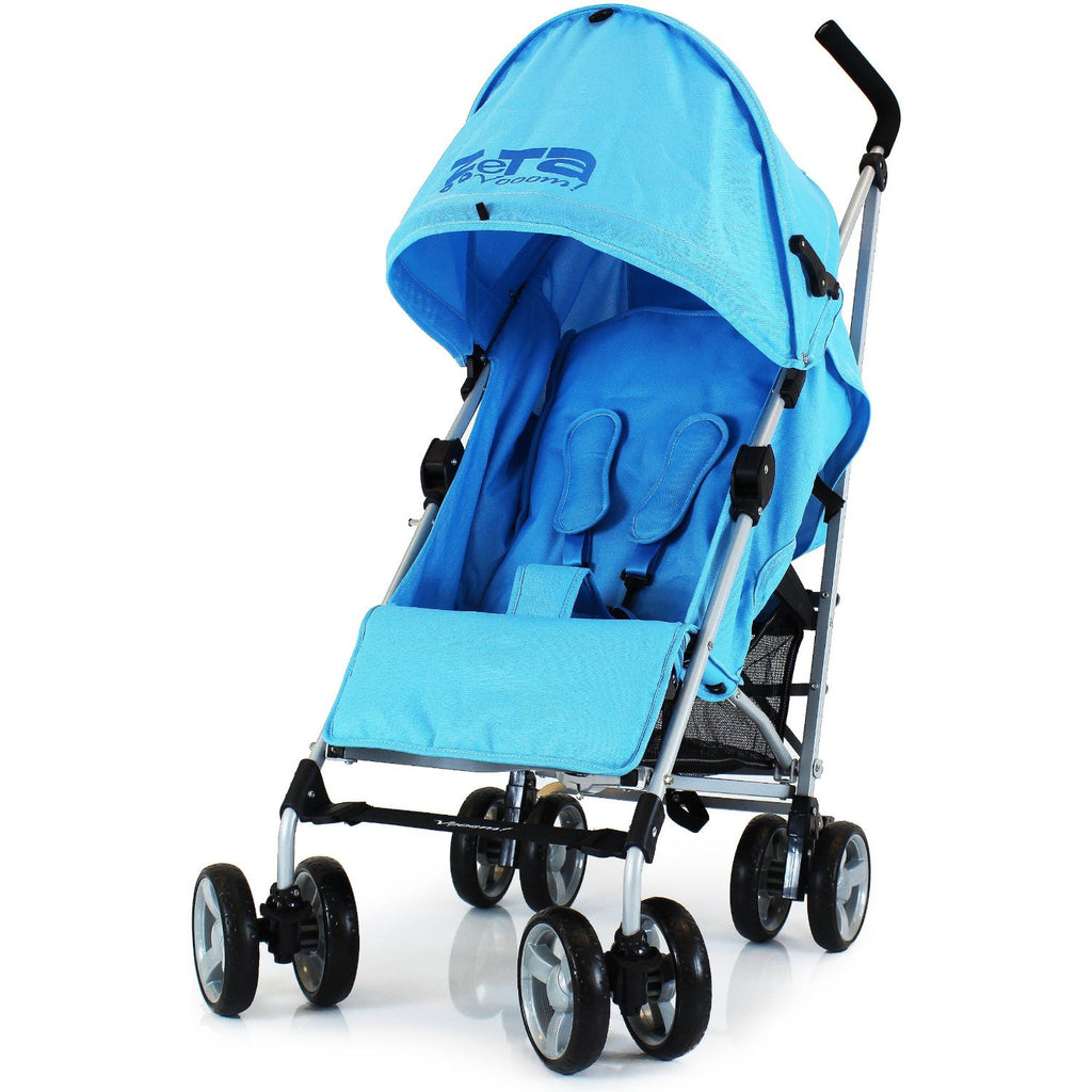 Baby Pushchair Zeta Vooom Stroller Ocean Blue - Baby Travel UK  - 2