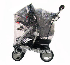 Rain Cover For Jane Twone Single Pushchair  & 1 Koos Car Seat - Baby Travel UK  - 2