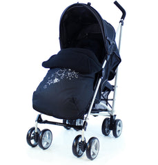 Zeta Vooom Hearts And Stars Complete Black - Baby Travel UK  - 2
