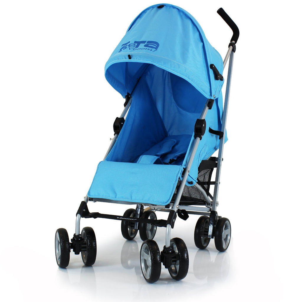 Baby Pushchair Zeta Vooom Stroller Ocean Blue - Baby Travel UK  - 1