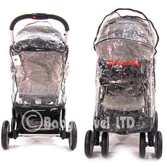 Rain Cover For Jane Twone Single Pushchair  & 1 Koos Car Seat - Baby Travel UK  - 3