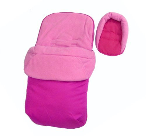 Pink Foot Muff & Heah Hugger To Fit iSafe Pram System Pink - Baby Travel UK