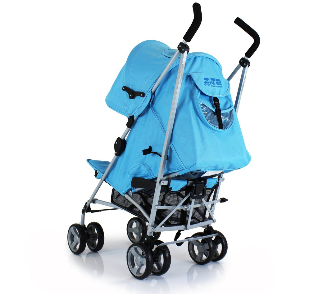 Baby Pushchair Zeta Vooom Stroller Ocean Blue - Baby Travel UK  - 4