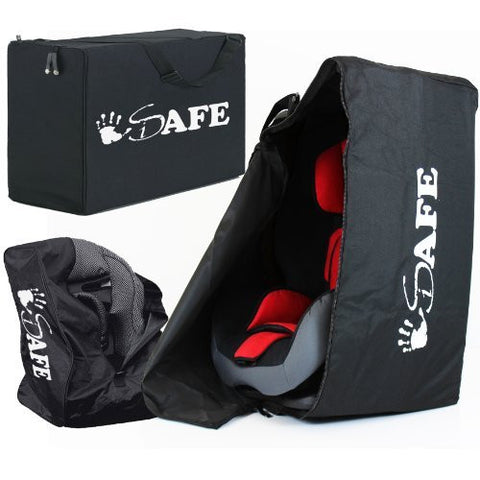 iSafe Carseat Travel / Storage Bag For Maxi-Cosi Familyfix Pearl Car Seat & Base (Black Raven)