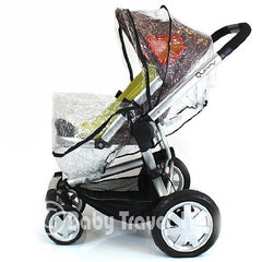 Universal Raincover For Silver Cross Sleepover Pushchair Pram Ventilated New - Baby Travel UK  - 3