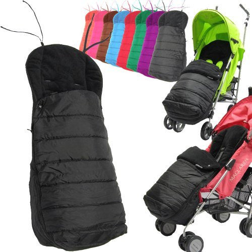 NEW Black Footmuff To Fit Maclaren Techno Xt Buggy Pram - Baby Travel UK