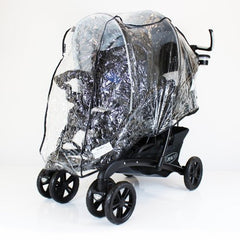 Universal Tandem Pushchair Raincover - Graco Stadium Safety 1st Or Similar Twin - Baby Travel UK  - 1