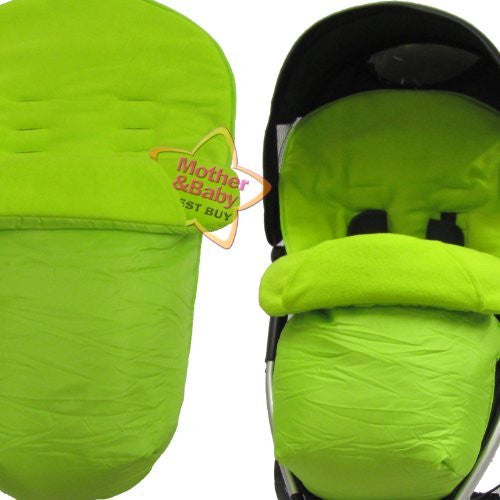 Footmuff Lime Green With Pouches Fits Quinny Zapp Petite Star Zia - Baby Travel UK  - 1