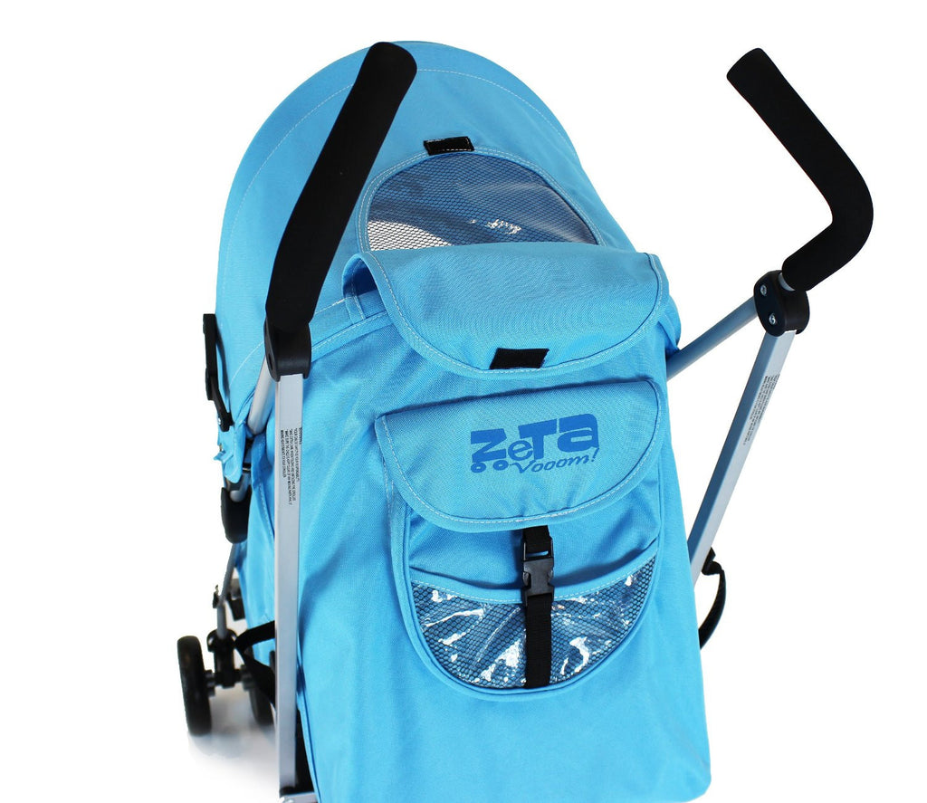 Baby Pushchair Zeta Vooom Stroller Ocean Blue - Baby Travel UK  - 5