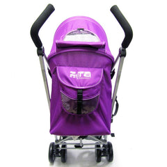 Passeggino buggy ultra leggero ZETA Vooom PRUGNA + para pioggia inclusa - Baby Travel UK  - 2