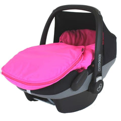Carseat Footmuff Raspberry Pink Fits Graco Logico Auto Baby Pram Travel System - Baby Travel UK  - 4