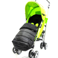 Black Universal Pushchair Stroller Buggy Footmuff - Baby Travel UK  - 4