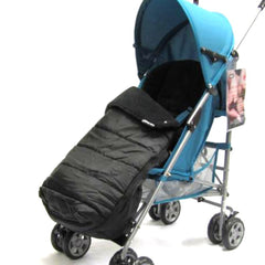Black Universal Pushchair Stroller Buggy Footmuff - Baby Travel UK  - 6