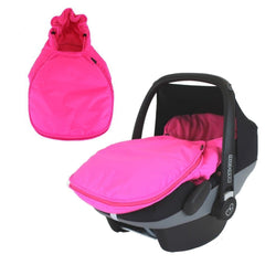 Carseat Footmuff Raspberry Pink Fits Hauck Malibu Icoo Pram Travel System - Baby Travel UK  - 1