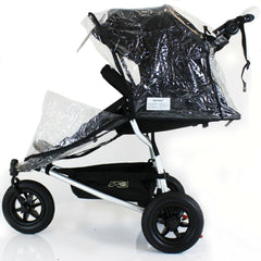 Rain Cover For Mountain Buggy Urban Weather Shield 3 Wheeler - Baby Travel UK  - 2