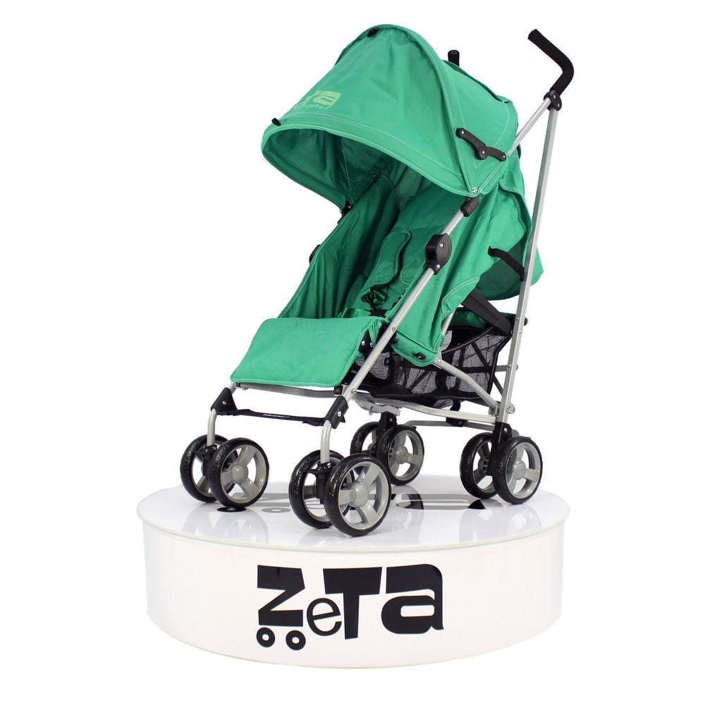 Zeta Vooom Baby Pushchair & Deluxe Footmuff - Leaf - Baby Travel UK  - 3