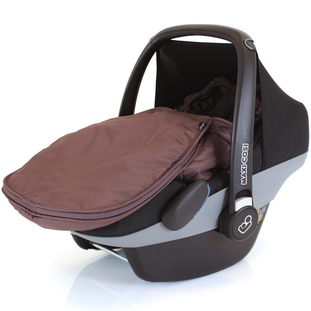 Carseat Footmuff Hot Chocolate Brown Fits Graco Symbio Mosaic Mirage Quattro - Baby Travel UK  - 1