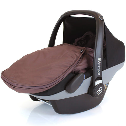 Carseat Footmuff Hot Chocolate Brown Fits Graco Symbio Mosaic Mirage Quattro