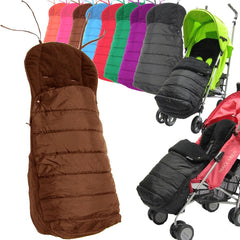 Black Universal Pushchair Stroller Buggy Footmuff - Baby Travel UK  - 11