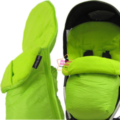 Lime Padded Footmuff & Liner To Fit Quinny Zapp Petite Star Zia Obaby Zoma - Baby Travel UK  - 1